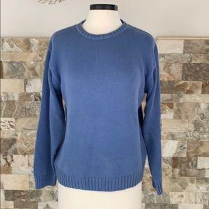 Charter club blue long sleeve crew neck sweater.